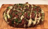 Mozzarella-Knoblauch-Brot als Snack