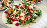 Rucola - Salat an Himbeer - Gorgonzola - Dressing