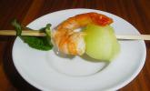 Garnelen-Melonen-Spieß