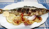 Gegrillte Knoblauch - Makrele
