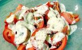 Tomatensalat mit Schmand und Honigsenf