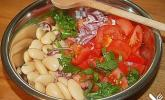 Bohnen / Tomatensalat