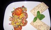 Tomatensalat mit Sardellenfilets