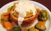 Baked Butternut mit Reis und Curry-Gemüse