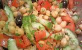 Kichererbsen-Oliven-Salat