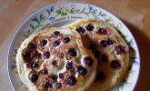 Pancakes mit Blueberries