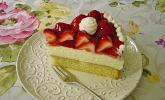 Erdeer-Kuchen mit Vanillecreme