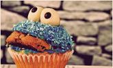 Krümelmonster-Cupcakes