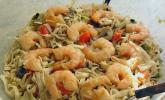 Asia - Nudelsalat mit gedünstetem Gemüse