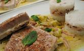 Thunfisch - Steaks auf Lauchgemüse