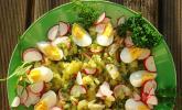 Kartoffelsalat mit Radieschen und Kräutern