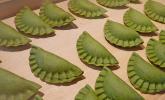 Grüner Nudelteig mit Spinat