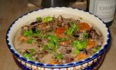 Civet de lapin au vin rouge et aux pruneaux