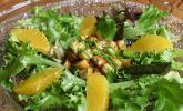 Salat mit Honigchampignons