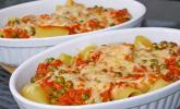 Rigatoni al forno mit Schinken-Sahne-Soße