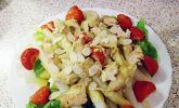 Hähnchen - Spargel - Mango - Salat mit Currysauce