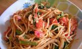 Nudeln mit Spinat-Thunfisch-Sauce