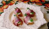 Spargel-Mozzarella-Prosciutto auf Baguette