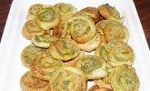 Pesto-Blätterteigschnecken
