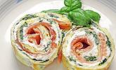 Lachs - Spinat - Rolle