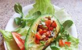 Gefüllte Avocado mit Olivenöl