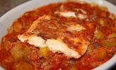 1a Lachs mit Zucchini und Tomaten