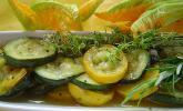Zucchini mariniert