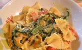 Mangold-Tomaten-Senf-Sahne-Tagliatelle