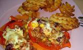 Mexikanische gefüllte Paprika mit Nachos