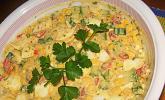 Schlanker Eiersalat mit Gemüse
