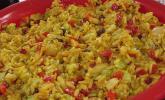 Fruchtig - scharfer Curry - Reissalat