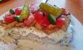 Fladenbrot-Sandwich mit Hühnchen