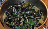 Muscheln in Weißweinsauce