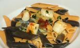 Jakobsmuscheln auf Pasta an Rieslingsauce