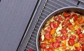 Tomaten-Quiche mit Käsekruste