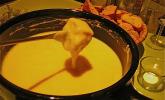 Käsefondue aus dem Kanton Waadt in der Schweiz