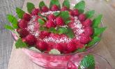 Kokos-Himbeer-Dessert
