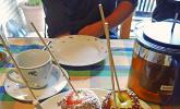 Liebesäpfel mit Karamell und Nüssen