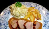 Schweinefilet mit Äpfeln in Calvados - Sauce