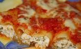 Cannelloni mit Kräuterquark und Schinken