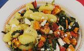 Gnocci mit Kürbis, Spinat und Ziegenfrischkäse