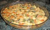 Chnöpfligratin mit Kartoffeln und Gemüse