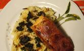 Lachs - Saltimbocca mit Wildreis
