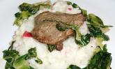 Saltimbocca von der Ente mit Radieschen - Risotto und gedünstetem Lattich
