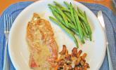 Saltimbocca vom Kalbsschnitzel mit frischen Pfifferlingen