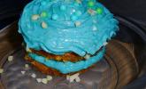 Karotten-Mandel-Cupcakes mit Vanille-Bittermandel-Frosting