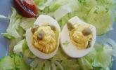 Eier mit Sardellenfüllung