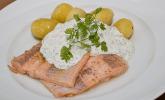 Menü 1 Hauptspeise: Lachsforelle mit Frankfurter Grüne Sauce und kleinen Schwenkkartoffeln