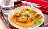 Champignon-Lauchpizza