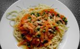 Kinder - Spaghetti mit Erbsen